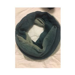 Blue Ombré Knit Scarf